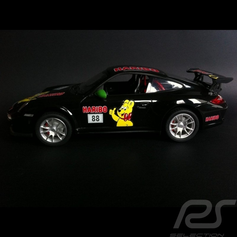 Porsche 997 GT3 RS Haribo schwarz / grün RC-Fahrzeug 27MHz 1/14