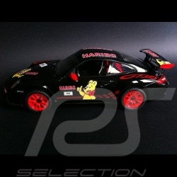 Porsche 997 GT3 RS Haribo noir / rouge radiocommandée 27MHz 1/14