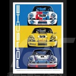 Porsche 911 RSR reproduction d'un poster original de Nicolas Hunziker