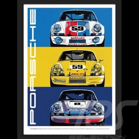 Porsche 911 RSR Wiedergabe einer originale Plakat von Nicolas Hunziker