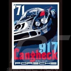 Porsche 917 Langheck reproduction d'un poster original de Nicolas Hunziker