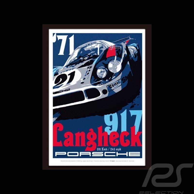 Porsche 917 Langheck reproduction of an original poster by Nicolas Hunziker