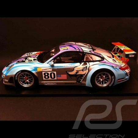 Porsche 997 GT3 RSR n°80 LM 2007 Spark 1/18
