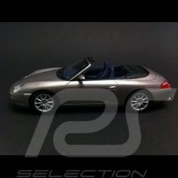 Porsche 996 Carrera Cabriolet gris 1/43 Minichamps WAP02008012