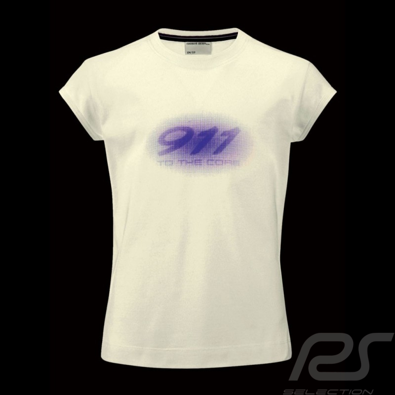 T-shirt enfant logo 911 Porsche Design WAP736 kid kinder girl fille
