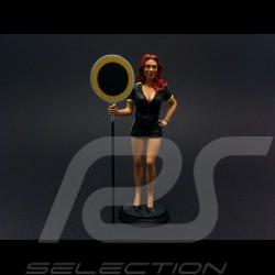 Sexy mädchen mit gelbe Platte 1/18 Diorama modell FLM118014