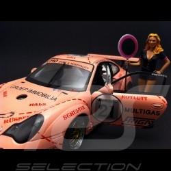 Fille sexy avec panneau rose 1/18 Figurine diorama FLM118014P
