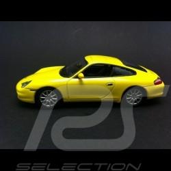 Porsche 996 Carrera 4 Coupé phase II 2001 gelb 1/43 High Speed HF9209S
