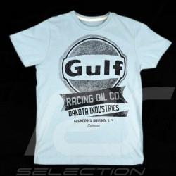 T-Shirt Herren Gulf Oil Racing petrol blau