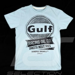 T-shirt homme Gulf Oil Racing Bleu pétrole MEN HERREN