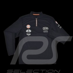 Men's Polo shirt Gulf Sport long sleeves navy blue
