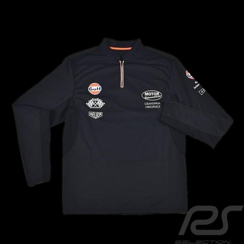 Herren Polo-shirt Gulf Sport langen Ärmeln marineblau
