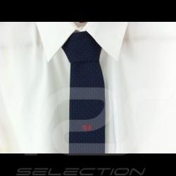 Cravate fine 24 h du Mans Alain Figaret bleu marine TIE Krawatte