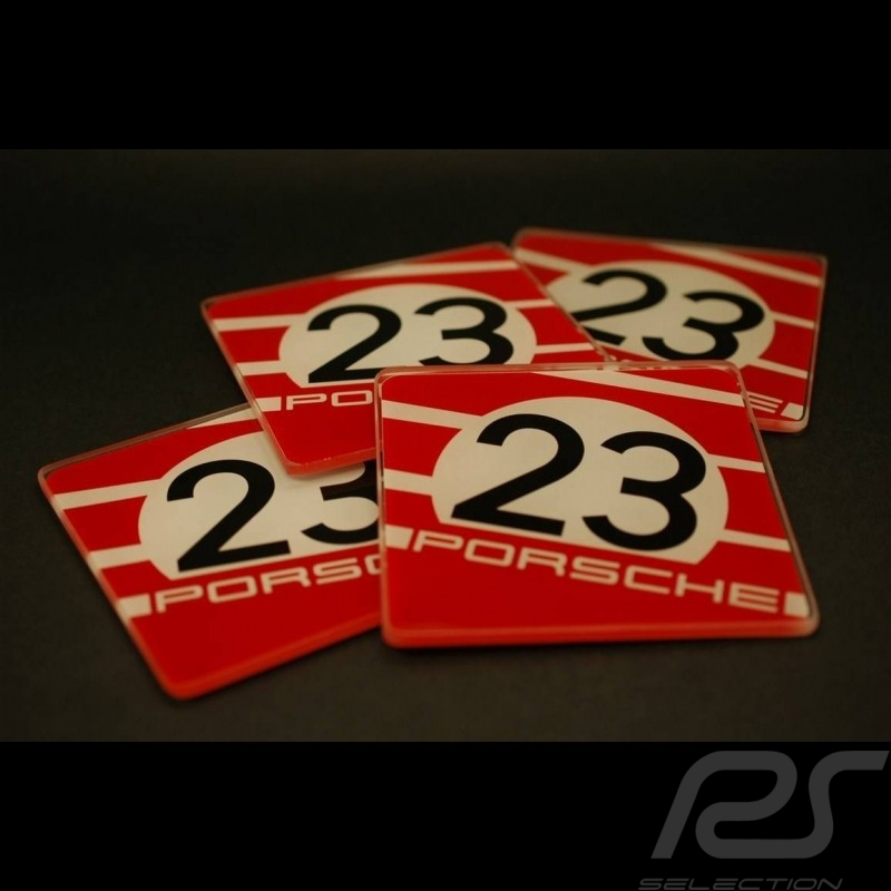 Sous-verres Porsche 917 Salzburg Glass coasters Untersetzer Porsche Design WAP0500500C