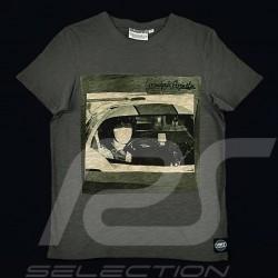 T-Shirt Herren Steve McQueen Le Mans grau