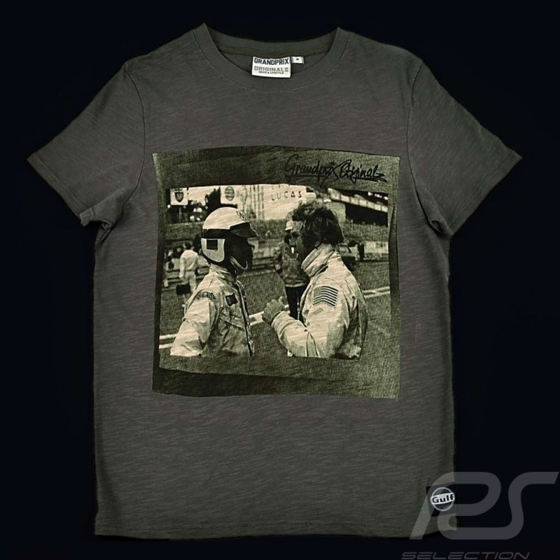 Men's T-shirt Steve McQueen conversation Le Mans grey