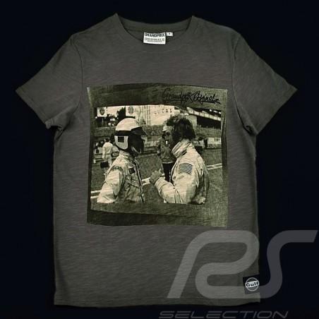 T-Shirt Herren Steve McQueen Unterhaltung Le Mans grau