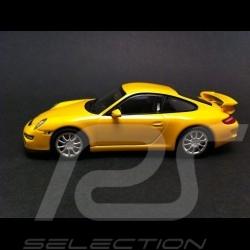 Porsche 997 GT3 jaune 1/43 Minichamps WAP02012116