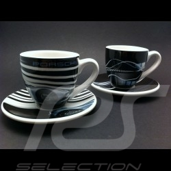 Set of 2 expresso cups Porsche 918 spyder and 911 wind tunnel
