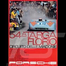 """Poster original Porsche """"54A Targa Florio"""" MAP09006414"""