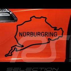 Autocollant Circuit du Nürburgring contour noir fond transparent