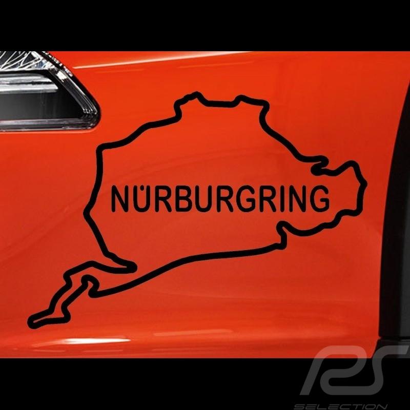 Sticker Nürburgring race track black outline transparent background