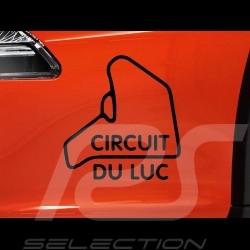 Autocollant Circuit du Luc contour noir fond transparent