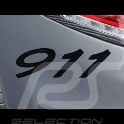 Autocollant lettres 911 transfert noir 7.7 x 2.7 cm