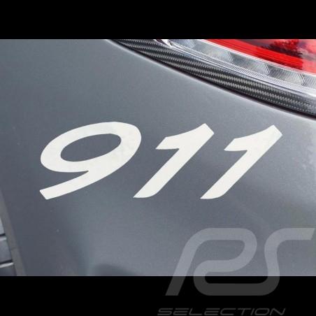 911 Zahlen Transfer Aufkleber schwarz 7.7 x 2.7 cm