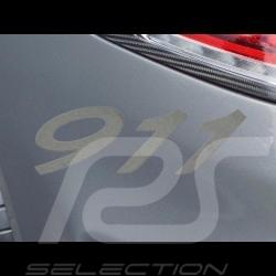 Autocollant lettres 911 transfert effet sablé 7.7 x 2.7 cm
