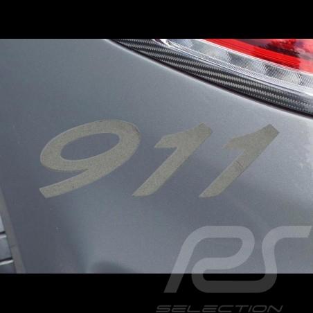 911 Zahlen Transfer Aufkleber Sandeffekt 7.7 x 2.7 cm