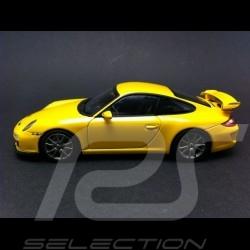 Porsche 997 GT3 2009 jaune 1/43 Minichamps 400068021