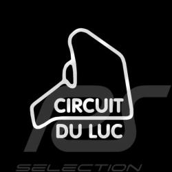 Autocollant Circuit du Luc contour argent sans fond