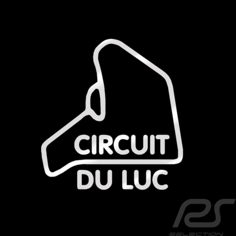 Sticker Le Luc race track silver outline no background