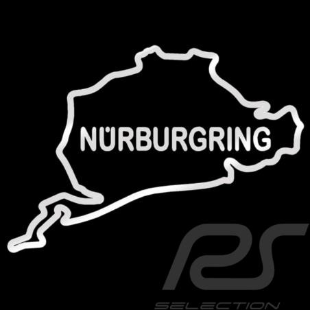 Sticker Nürburgring rennstrecke silber Umriss kein Hintergrund