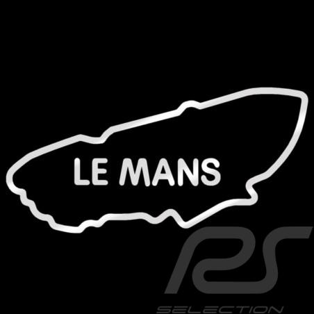 Sticker Le Mans rennstrecke silber Umriss transparentem Hintergrund