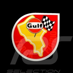 Autocollant Gulf Targa Florio Ø 9 cm