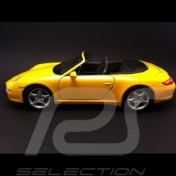 Porsche 997 Carrera S Cabriolet jaune 1/18 Maisto 31126