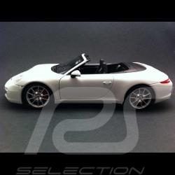 Porsche 991 Carrera S Cabriolet 2013 blanche 1/18 Minichamps WAP0210130E