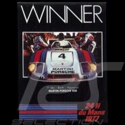 Plaque aimantée Porsche 936 Martini Le Mans 1977