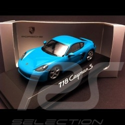 Porsche 718 Cayman S 2016 Miami blue 1/43 Minichamps WAP0204110G