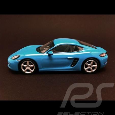 Porsche 718 Cayman S 2016 Miami blau 1/43 Minichamps WAP0204110G