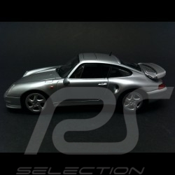 Porsche 993 Turbo S 1998 gris métallisé 1/43 Minichamps CA04316002