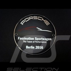 Badge de grille Porsche Faszination Sportwagen Porsche Design MAP04513216 Grille Badge Grillbadge