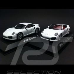 Duo Porsche 991 Turbo S 1/43 Minichamps WAP0208900E / WAP0203110E