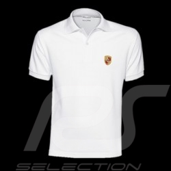 Polo homme écusson Porsche blanc Porsche Design WAP591 Men shirt crest white Herren Wappen Weiß