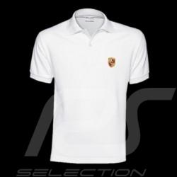 Polo homme écusson Porsche blanc WAP591B Men shirt crest white Herren Wappen Weiß