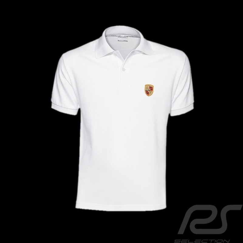 porsche polo shirt wappen wei porsche design wap591. Black Bedroom Furniture Sets. Home Design Ideas
