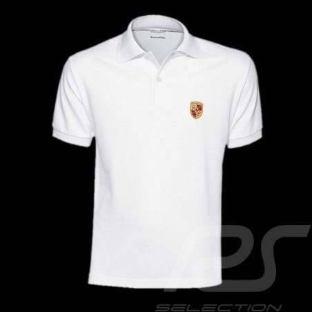 Herren Polo Shirt Porsche Wappen Weiß WAP591B