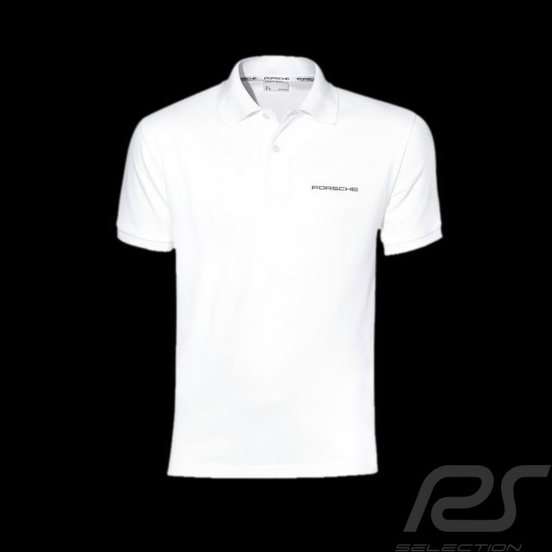 Polo homme Classic Porsche blanc WAP751B Men Polo shirt white Herren Weiß